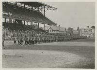 World War I- Troops at League Park 1910s