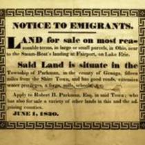 Notice to emigrants