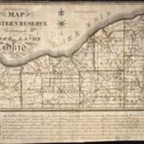 Map of the Western Reserve including the fire lands in Ohio
