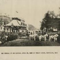 Funeral of Abe Lincoln, April 28, 1865 at Public Square, Cleveland, Ohio