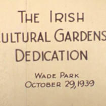 Irish Cultural Garden Dedication Film