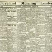 Headline of President Lincoln Being Assassinated
