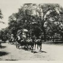 Euclid Ave Sleighing and Coaching 1880s