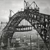Construction of Detroit-Superior High-Level Bridge
