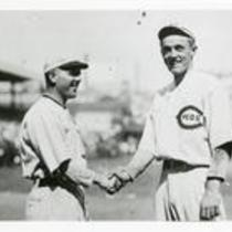 Ball players shaking hands