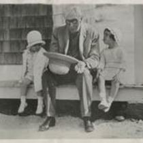 John D. Rockefeller with children