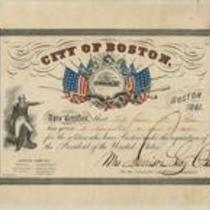 Certificate of the Boston Committee on Military Donations