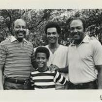 Louis and Carl Stokes with two boys