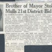 Brother of Mayor Stokes mulls 21st District bid