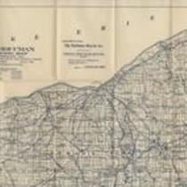 Hoffman highway map of northeastern Ohio