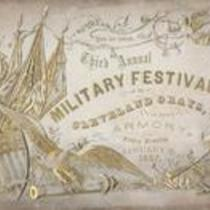 You are invited. Third Annual Military Festival of the Cleveland Grays at their armory. Friday Evening, January 23, 1857