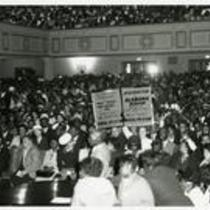 Audience watching Dr. Martin Luther King, Jr.